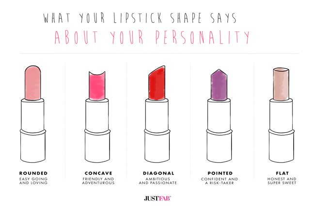 what the shape of your lipstick says about your personality